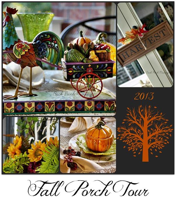 Fall Porch Tour Mosaic